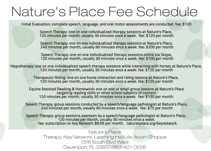 Fee Schedulle